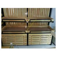 China SGS Supermarket Wooden Display Rack Single - Sided Electrostatic Spray Surface wholesale