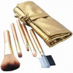 China Makeup Brush Set with Aluminum Ferrules wholesale