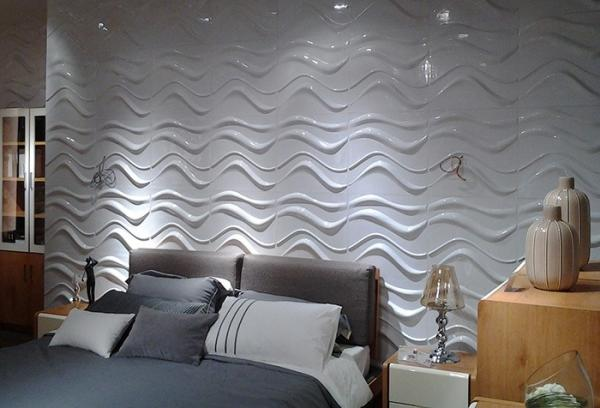 Textured Exterior 3D Wall Panels Outdoor PVC Decorative Wall Paneling