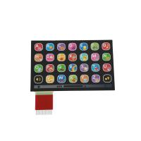 China Custom Metal Dome Membrane Switch With Silk Screen Printing / custom membrane switches on sale
