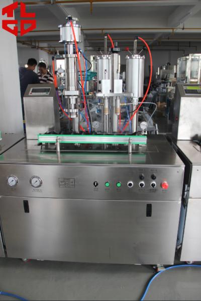 Quality Máquina de rellenar del espray de aerosol del acero inoxidable, máquina de rellenar del perfume de la fragancia for sale