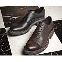 China Woven Formal Mens Leather Dress Shoes Elegant Goodyear Welted Shoes With Two Cap Toe wholesale