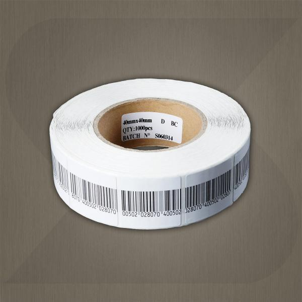 Custom Security  EAS RF Soft Label / Sticker 8.2Mhz 40*40mm