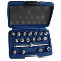 China 18-piece Drain Plug Key Set, Suitable for Removal Replacement of Oil Drain Plugs wholesale