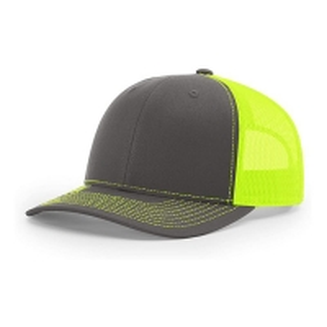 China Custom 6 Panel Richardson 112 Snapback Hat Plain Blank Black Mesh Trucker Cap wholesale