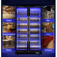 China Full Glasses Door Commercial Upright Chiller For Wine / Bear / Soft Drink Display Cooler on sale
