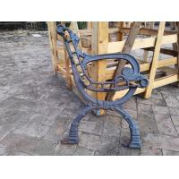 China Antique OutdoorCast Iron Bench Ends For Garden Chair , Iron Park Bench Ends wholesale