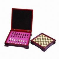 China Travel Game Set, Made of Wood, Comes in Red with Pink Lining wholesale