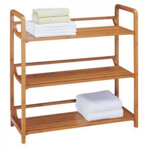 China High Strength Bamboo Bathroom Supplies Bamboo Towel Rack 3 Tier Bath Furniture on sale