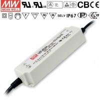 China Meanwell LED Waterproof Power Supply 40W / 15V Dimmable LED Driver , 47~63Hz wholesale