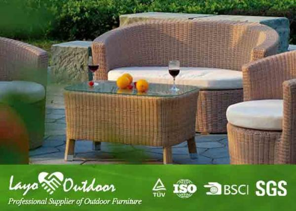 Quality Customized Factory aluminium frame outdoor garden sofa set with coffee table outdoor garden sofa with coffee table for sale