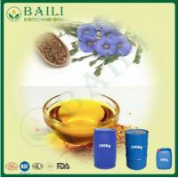 China Cold Pressed Bulk Flaxseed Oil Natural Plant Extract Omega-3 Oil   for Nerve and Brain System wholesale
