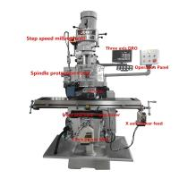 3E economic small milling machine center with operation manual