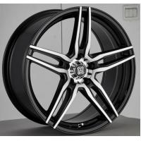 China 17 Inch Aftermarket Alloy Wheels Black Painted with Machined Face Aluminum A356 Five Split Spokes wholesale