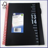 English Daily Planner Notebook with PP cover, 72 dated inside sheets