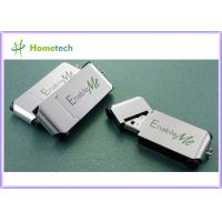 China Metal Thumb drives - China Silver Metal thumb USB Pen with Keychain Suppliers wholesale