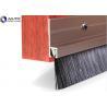 China Dustproof Door Industrial Wire Brush Flame Proof Nylon Bristle PVC Holder Bottom wholesale