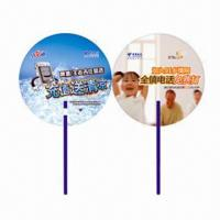 China Hand Fans for Promotional Purposes, Customer's Logos Printings are Available, Made of PP wholesale