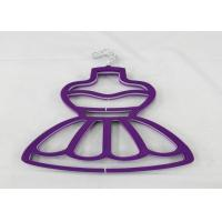 China Pink / Purple Velvet Clothes Hangers For Skirts Full Body 29 Cm Length wholesale