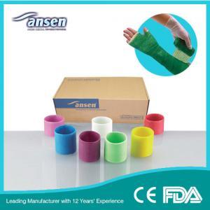 China 12.5cm 12ft colors Rapid Ossification (Concretion) Medical Bone Fracture Molding Orthopedic Fiberglass Casting Tape on sale
