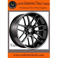 China 2pcs 8.0 - 12.5 Width Concave Forged Wheels / Black 19 Inch Rims wholesale