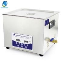 China 15L Fast Cleaning Digital Ultrasonic Cleaner With Degas Function For Oily Parts wholesale
