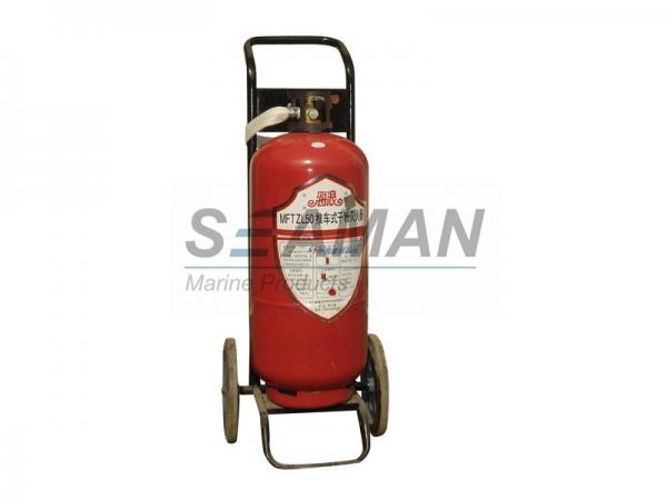 Quality Wheel Marine Fire Extinguisher Trolly Dry Powder / CO2 Fire Extinguisher for sale