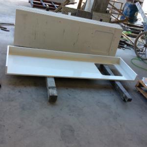 Engineered Kitchen Countertops White Quartz Countertop Slabs 3200mm*1600mm Quartz Stone