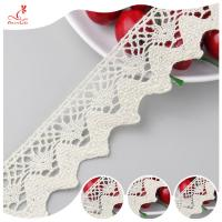 China Eco - Friendly Apparel Cotton Lace Fabric Trim High Color Fastness on sale