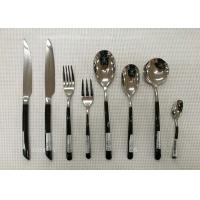 China Stainless Steel Flatware Sets of 13 Pieces Black-Plated Handles Knives Forks Spoons wholesale
