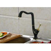 China Classic Style Bathroom Sink Faucets Black Bathroom Faucets Ceramic Cartridge wholesale