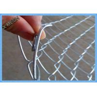 China Heavy Duty Chain Link Fence Fabric , Twisted Edge Wire Fence Panels 50 X 50mm wholesale