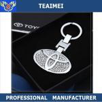 China Metal Key Holder Diamond Car Keychain 3D Different Car Logo wholesale