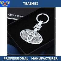 China Metal Key Holder Diamond Car Keychain 3D Different Car Logo wholesale