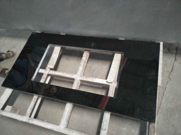 Quality Absolute Black Granite Countertop , Prefab Black Stone Countertops For Bathroom for sale