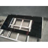 China Absolute Black Granite Countertop , Prefab Black Stone Countertops For Bathroom wholesale