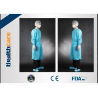 Non Toxic Disposable Surgical Gowns Non-sterile Customized Size With Tie/Hook And Loop