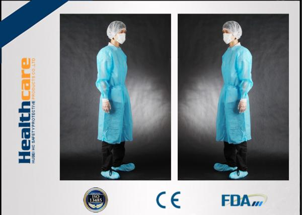 Quality Non Toxic Disposable Surgical Gowns Non-sterile Customized Size With Tie/Hook And Loop for sale