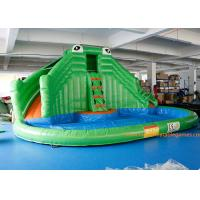 China PVC Tarpaulin Crocodile Commercial Inflatable Jumpers Slides For Event on sale