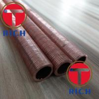 China UNS12200 Spiral Brass Finned Tube Heat Exchanger / Red Finned Copper Tubing wholesale