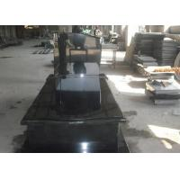 China Black Granite Memorial Headstones For Tombstone Polished Surface Finish wholesale
