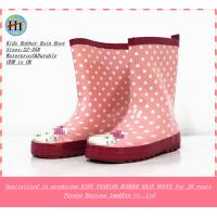 China Fashion Girls Rubber Boot,Rubber Rain Boots,Children's Wellington Boot with straps on the sides on sale