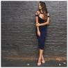 China Eco - Friendly Black Bandage Skirt , Bandage Halter Dress Breathable wholesale