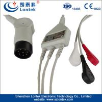China AHA One Piece Series ECG Patient Cable, 3LD:A, SNAP, TPU, 1KΩ Resistance wholesale