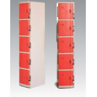 China ABS Material Coin Operated Lockers 5 Tier Red / Orange For Swimming Pool wholesale