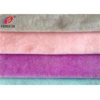 China Warp Knitted Minky Plush Fabric  100% Polyester Crystal Velboa For Toys wholesale