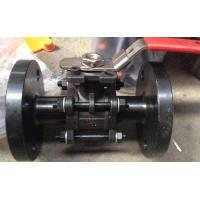 China 3PC Flanged Ball Valve , ASTM A216 WCB 2 Inch Carbon Steel Ball Valves pneumatic/with iso5211 wholesale