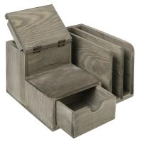 China Modern Student Tabletop Organizer With Drawers / Three Slots / A Cup wholesale