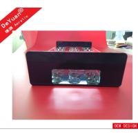 China OEM Accepted 100% Virgin Rectangle Black Tabletop Acrylic Holder Stand In Bar wholesale
