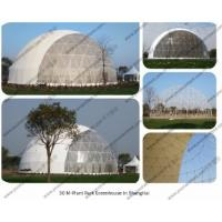 Buy cheap Diamater 30m Steel Circle Tube Geodesic Dome Half Sphere Tents for Outdoor Celebration, Ceremony and Party Event from wholesalers